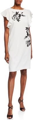 Lafayette 148 New York Sasha Crepe Floral-Print Dress