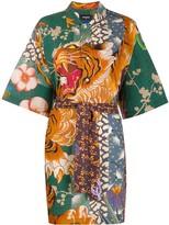 DSQUARED2 tiger print shirt dress