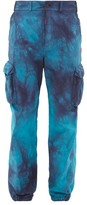 Off-White Off White Tie-dyed Ripstop Cargo Trousers - Mens - Blue