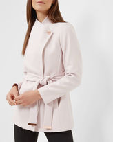 ELETHEA Short wrap coat