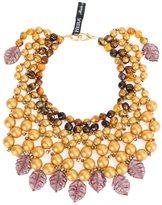 Afroditi Hera embellished beaded necklace