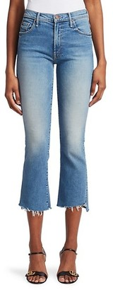 Mother The Insider High-Rise Crop Step Fray Hem Jeans