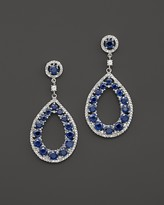 Bloomingdale's Sapphire and Diamond Teardrop Earrings in 14K White Gold