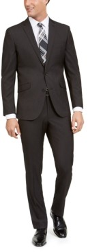 Kenneth Cole Unlisted Men's Slim-Fit Stretch Black Pindot Suit