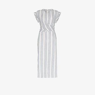 Three Graces Tilde striped linen midi dress