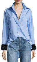 No.21 No. 21 Hortensia Embellished-Cuffs Button-Front Shirt