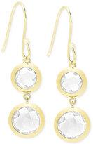 Macy's Victoria Townsend White Quartz (9 ct. t.w.) Bezel Drop Earrings in 18k Gold over Sterling Silver