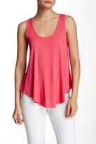 Hip Double Scoop Knit Tank
