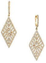 Effy Doro 14K Yellow Gold Diamond Drop Earrings, 1 TCW