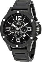 Armani Exchange Chronograph Black Dial Black PVD Stainless Steel Men's Watch