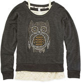 Knitworks Knit Works Cami and Embellished Sweatshirt - Girls 7-16 and Plus