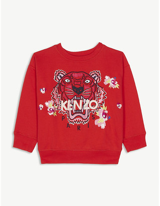Kenzo Floral tiger cotton sweatshirt 4-14 years