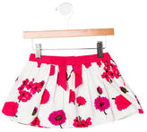 Milly Girls' Floral Print Flare Skirt