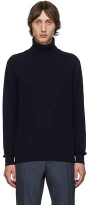 Maison Margiela Navy Cashmere Turtleneck
