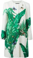 Dolce & Gabbana banana leaf brocade coat