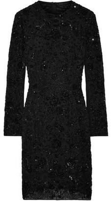 Needle & Thread Monoliet Embellished Chiffon Mini Dress
