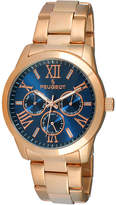 Peugeot Womens Blue Dial Rose-Tone Stainless Steel Bracelet Watch 7095NV