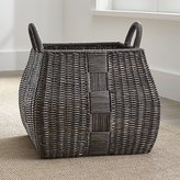Crate & Barrel Auburn Woven Basket with Handles Large
