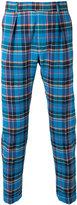 Paul Smith checked trousers - men - Cotton/Spandex/Elastane/Cupro - 30