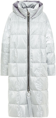 Ienki Ienki Pyramide Oversized Metallic Quilted Shell Hooded Down Coat