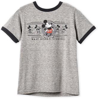 Disney Mickey Mouse Ringer T-Shirt for Boys Walt Studios