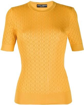 Dolce & Gabbana short-sleeved knitted T-shirt
