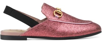 Gucci Children's Princetown GG rainbow star slipper