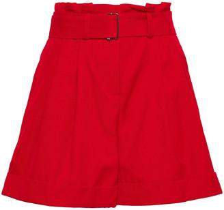 Nicholas Belted Twill Shorts