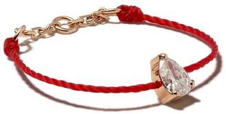 Redline 18kt rose gold Altesse diamond pear thread ring