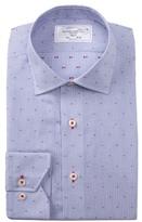 Lorenzo Uomo Dobby Stripe Trim Fit Dress Shirt
