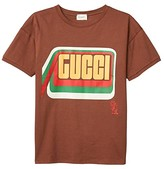 Gucci Kids Cotton Jersey w Print T-Shirt (Little Kids/Big Kids) (Cocoa Powder/Multicolor) Kid's Clothing