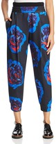 DKNY Rose Print Cropped Pants