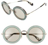 Miu Miu Women's 48Mm Round Sunglasses - Ivory