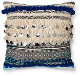 Xhilaration Blue Fringe and Sequins Throw Pillow