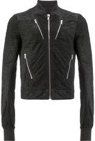 Rick Owens bomber jacket - men - Cotton/Lamb Skin/Cupro/Virgin Wool - 48