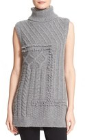 Derek Lam 10 Crosby Women's Cable Knit Turtleneck Sweater Vest