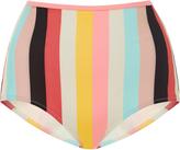 Solid & Striped Brigitte Striped High-Rise Bikini Bottoms