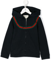 Gucci Kids - contrast stripe hoodie - kids - Cotton/Viscose - 4 yrs