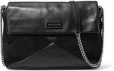 Marc by Marc Jacobs Leather and suede shoulder bag