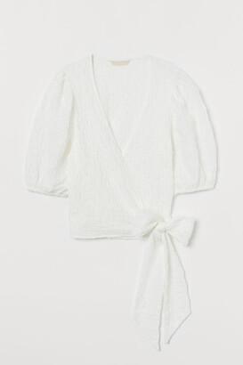 H&M Short wrapover top
