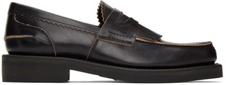 Our Legacy Black Leather Loafers