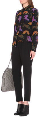Stella McCartney Tamara low-rise stretch-crepe tapered trousers