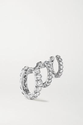 Maria Tash Eternity 18-karat White Gold Diamond Hoop Earring