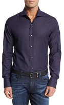 Neiman Marcus Box-Pattern Sport Shirt, Midnight