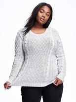 Old Navy Classic Plus-Size Cable-Knit Sweater