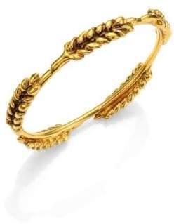 Aurelie Bidermann Five Cobs Wheat Bangle Bracelet