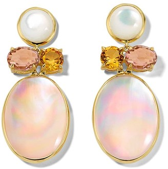 Ippolita 18kt yellow gold Rock Candy Luce 4-stone post earrings