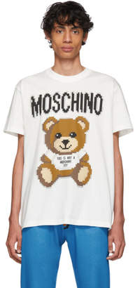 Moschino White The Sims Edition Pixel Teddy T-Shirt