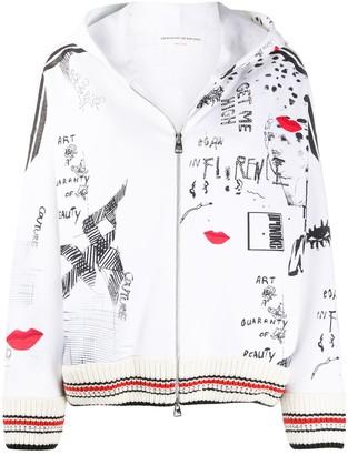 Ermanno Scervino Rhinestone-Embellished Hooded Jacket