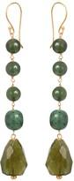 Mirabelle Jewellery Bella Five Stone Earrings With Green Jade, Feldspar & Vasonite